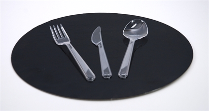 Plastic Bestek transparant
