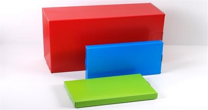 Gekleurde doosjes