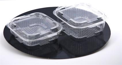 Vierkante plastic bakjes