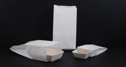 Witte snackzakken